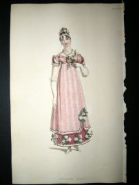 Ackermann 1815 Hand Col Regency Fashion Print. Evening Dress 14-33